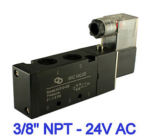 3 8 Inch 4 Way 2 Position Electric Directional Control Solenoid Air Valve 24vac