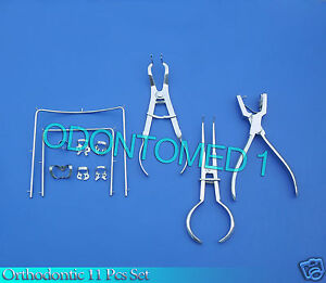 11 Assorted Orthodontic Dental Instruments Set