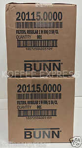 Bunn 2000 Paper Regular Coffee Filters For 12 cup Commercial Brewers