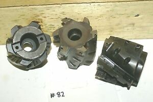 3 Shell Mills 3 Nc 21086 Takes 24 Carbide Inserts 570 Slot Arbor Mill Milling