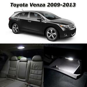For 2009 2013 Toyota Venza White Led Interior Lights Package Deal
