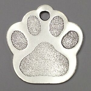 300 Stainless Steel Large Paw Print Pet Id Identificationtag Wholesale Blank