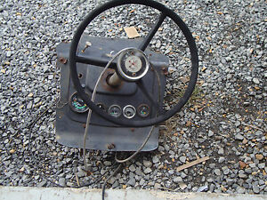 285 Massey Ferguson Tractor Power Steering Column With Gauges