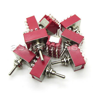 50 mini Toggle Switch 4pdt 2 Position On on 12 pin 250v 2a 120v 5a Wholesale