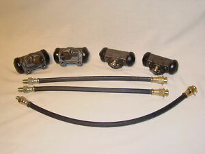 1958 58 Lincoln 4 Brake Wheel Cylinders 3 hoses New 7 piece Kit