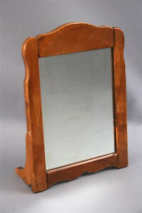 1930s Vintage Rancho Monterey Wood Frame Table Mirror Antique 30s 3936