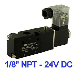 1 8 3 Way 2 Position Electric Directional Control Air Solenoid Valve 24v Dc