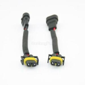 2 9006 To H11 H8 Headlight Fog Light Conversion Connector Wiring Harness Socket