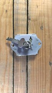 Vintage Chest Cabinet Drawer Or Locker Lock Old With Original Key