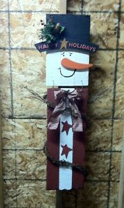 Country Wooden Snowman