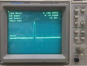 Tektronix 2712 9khz 1 8ghz 50 Ohm Spectrum Analyzer