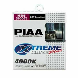 Piaa 9007 Xtreme White Plus Twin Pack Halogen Bulbs 4000k Made In Japan 19617