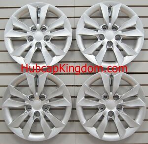 Set Of 4 Silver 16 Hubcaps Wheelcovers Fit 2011 2014 Hyundai Sonata Bolt on