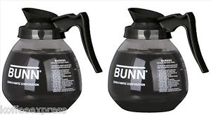 Coffee Pot Decanter Bunn 64oz Commercial Case Of 2 Pots 100 Free Filters Cf12