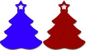 100 Christmas Trees Red Gold Blue Green Anodized Aluminum Usa Made