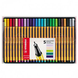 Stabilo Point 88 0 4mm 25 Colour Pen Set