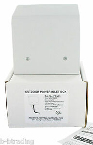 Reliance L14 20 Power Inlet Box For Generator Cords Ul Pbn20 Non Metallic Pb20