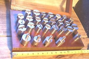Steel Round Gage Space Block Hardened Blocks Gages Set Threaded Inside Shank