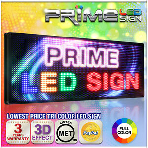 Full Color 66 x15 Virtual 10mm Led Sign Outdoor Programmable Message Board