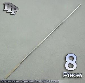 8 Pieces Of Dittel Urethral Sounds 12 Fr Gynecology Surgical Instruments