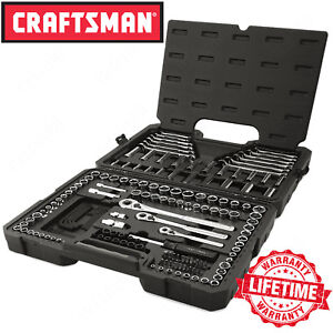 Craftsman 165 piece Mechanic Tool Set W Case Inch Metric Socket Wrench Kit
