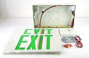 Mule Mxbgu Green Led 120 277 Volt 4w 12x9x1 7 Polycarbonate White Exit Sign 1ab