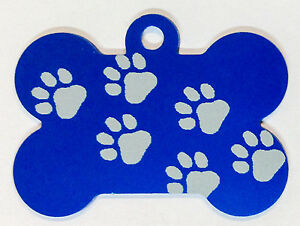 50 Walking Paw Print Dog Bone Pet Id Tags Anodized Aluminum Laser Blank Usa Made
