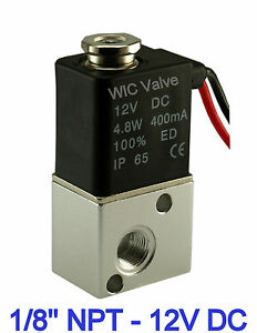 1 8 Inch 3 Way Zero Differential Air Water Electric Solenoid Valve 12v Dc
