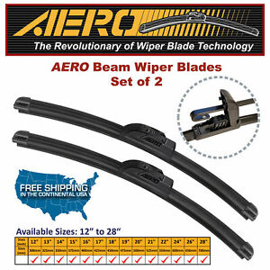 Aero 26 19 Oem Quality Beam Windshield Wiper Blades Set Of 2