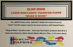Laser Non fabric Transfer Paper neenah Mugs N More size 11 x17 100 Sheets