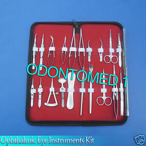 26 Pc O r Grade Basic Ophthalmic Eye Micro Surgery Surgical Instruments Set Kit