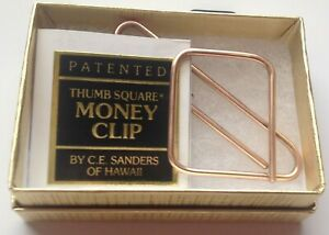 Thumbsquare 24k Gold Plated Paper Clip