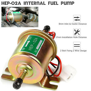 Universal Inline Electric Fuel Pump Hep 02a 4 7psi 12v Low Pressure Gas Diesel