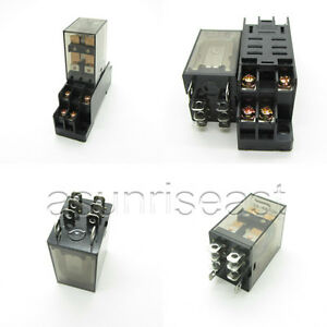 10 X Ac220v Coil Power Relay 10a Dpdt Ly2nj Hh62p Hhc68a 2z Socket Wholesale