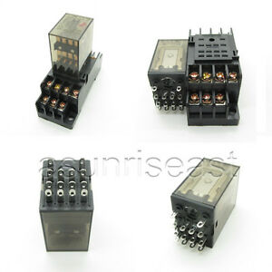 10 X Coil Ac220v Power Relay 4pdt 3a My4nj Hh54p Hhc68b 4z Socket Wholesale