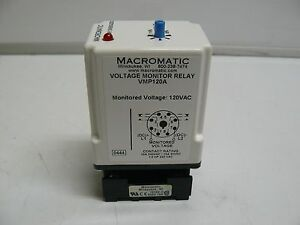 Macromatic Vmp120a Voltage Monitor Relay
