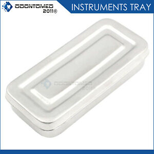 Instruments Box Stainless Steel Organizer With Lid Tattoo Lab Medical Square New