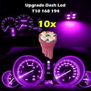 10x Pink Purple Gauge Instrument Cluster Speedometer Dash 4 Smd Led Light Bulbs