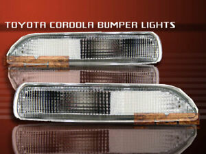 93 97 Toyota Corolla Front Bumper Lights Clear 94 95 96