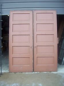 Painted Raised Panel Pocket Door Set With Tracking D Jer3