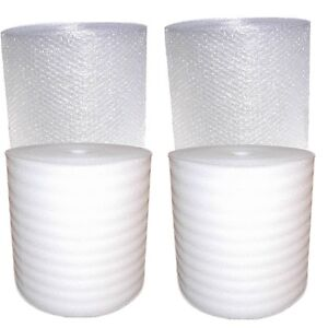530 630 Ft New Small Bubble Cushioning Wrap With 3 16 Small And 2 Foam Rolls