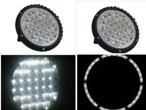 7 Inch 96w Halo Round Led Work Light Spot Driving Lamp Headlight Off Road Truck