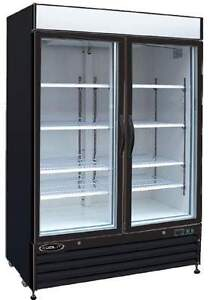 Kool it Kgf 48 Brand New 48cf Commercial Glass 2 Door Display Ice Cream Freezer