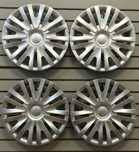 New Vw 2010 2014 Golf 15 Silver Hubcap Wheelcovers Set Of 4