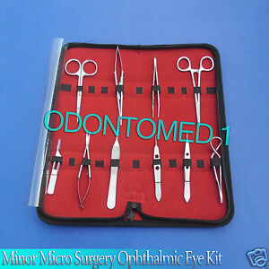 11 Pc Eye O r Grade Micro Minor Surgery Ophthalmic Instrument Set Kit