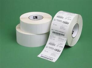 5 Rolls 2 25 X 0 50 Genuine Zebra Lp2844 Thermal 21 000 Labels 10010040