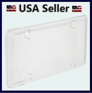 New Clear License Plate Cover Bug Shield Bubble Plastic Car Truck Tag Protector