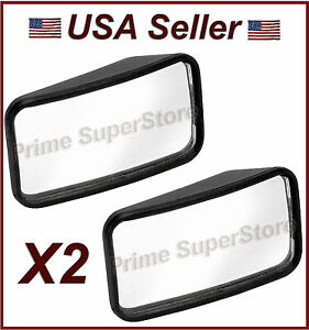 2 1 4 Inch New Side Auxiliary Blind Spot Wide View Mirror X Two Small Rearview