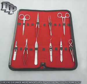 11 Pc Eye O r Grade Micro Minor Surgery Ophthalmic Ddp Instrument Set