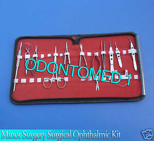 23 Pc Glaucoma Eye Micro Minor Surgery Surgical Ophthalmic Instruments Set Kit